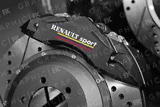 x6 Renault Sport Logo Premium Vinyl Brake Caliper Decals - Stickers Clio Megane