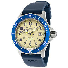 Glycine Men's 3863.15AB-D8 Combat Sub Automatic 42mm Green Dial Blue Rubber