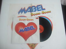 MABEL Boom Boom Poster Polydor 2344 106 GER1978 WHITE LION FREAK OF NATURE STUDS