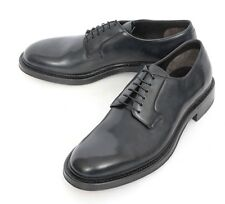 Mens BRIONI Italy Black Calf Leather Derby Oxford Shoes EU 10 US 11 NIB