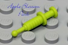 NEW Lego Minifig Lime Green HOSPITAL SYRINGE Doctor Nurse Needle - Animal Dart