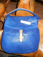 NWT CHRISTOPHER KON Cobalt Blue Leather Hobo Shoulder handbag Purse