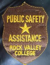 ROCK VALLEY COLLEGE EMBROIDERED SEW ON PATCH PUBLIC SAFETY ASSISTANCE UNIFORM