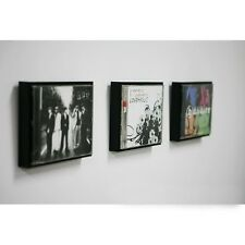Music CD Display Wooden Frames 3pcs Black Home Decor Wall Mount or Table Top