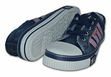 Pour Femmes En Toile Chaussures/Tennis, Marine/Rose ,Taille 6 (39) (RT2N)