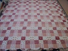 Nice Whole Cloth Granny Square Pattern Quilt