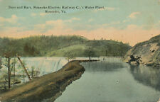 Roanoke VA * Electric Railway Co. Water Plant Dam & Race 1911