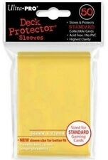 50 DECK PROTECTORS Yellow Giallo MTG MAGIC ULTRA PRO