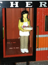 G Scale 1/29 Scale Female Holding Pie (Pizza) in service mode: Dining Car?