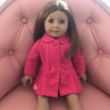 red warm coat for American girl doll of 18 inch doll accessories