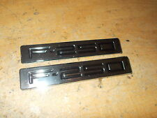 2009 2010 FORD F250 F-250 SUPERDUTY FRONT FENDER EMBLEMS BADGES NAME PLATES PAIR