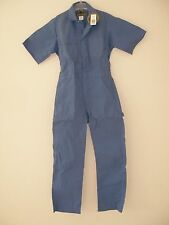 MENS COTTON SHORT SLEEVE COVERALLS SIZE 38 REG POSTMAN BLUE