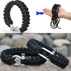 New ParaCord Rope Survival Bracelet Outdoor Camping Hiking Steel Shackle Buckle