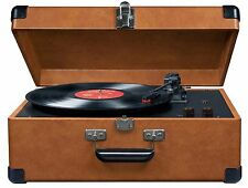 CROSLEY CR49-TA Tan Traveler Portable Record Turntable Built in Speakers phono C