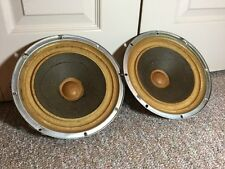 "Pair Vintage KLH 10"" Woofers / For Model 20 Speakers / Matched Set / 4 ohm"