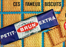 PUBLICITE ADVERTISING 115  1964  PETIT-BRUN biscuits  EXTRA  (2p)