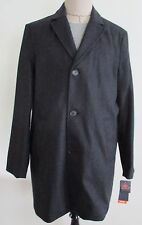 Dockers Wool Blend Herringbone Top Coat Trench Men Extra Large Charcoal Gray