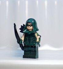 A884 Lego CUSTOM cw tv INSPIRED GREEN ARROW MINIFIG Canary MALCOLM Arsenal Red