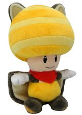"New Genuine Nintendo  8"" Musasabi Yellow Toad Flying Squirrel Plush Super Mario"