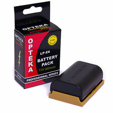 Opteka LP-E6 LPE6 2600mAh Battery for Canon EOS 6D 7D 60D 60Da 70D DSLR Camera