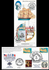"Maximum card USA-FRANCE ""Stopover 19 Rochefort, HERMIONE / US Independence"" 2015"