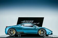1/18 BBR FERRARI 458 SPECIALE ARTYHEMIS GREEN ON GENEVA DISPLAY LE 10 PCS