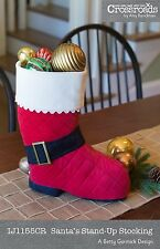 SANTA'S STAND-UP STOCKING SEWING PATTERN, From Indygo Junction NEW