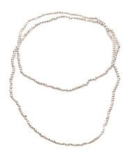 Chic Silver Chrome Beads / Long & Cute Metal Necklace(Zx181)