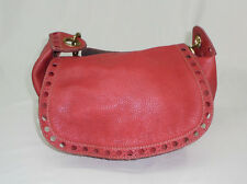 Lucky Brand Large Leather Hobo Bag Tote Purse Red MM1 New