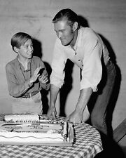 Chuck Connors and Johnny Crawford  - 8 1/2 X 11