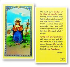 Lot of 22 Mother of St. Nino de Atocha Laminated Made in Italy Holy Cards New