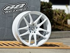 ESR SR08 SR8 18x9.5 5x114.3 +35 Gloss White Camry Optima Mazdaspeed3 TC IS250