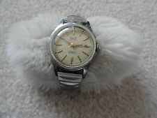 Old--Swiss Made Alsta 17 Jewels Very Thin Incabloc Alstaflex Wind Up Men's Watch