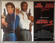 Cinema Poster: LETHAL WEAPON 3 1992 (Quad) Mel Gibson Danny Glover Joe Pesci