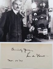 Lee De Forest American Inventor 'Father of Radio' Awarded 180 Patents Autograph