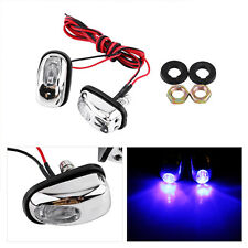 2x Auto Car Hood Windshield Spray Nozzle With Blue LED Light 12V Wiper Washer AP
