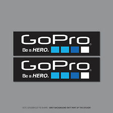 SKU2434 - 2 x Go Pro Be A Hero Stickers - Decals - 197mm x 55mm