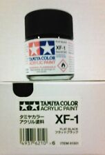 Tamiya acrylic paint XF-1 Flat black 23ml.