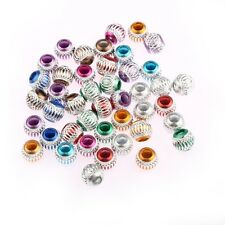 50pcs European Big Hole Round Plastic Balls Beads Charm fit Bracelet mix colors