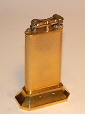 nice quality 1930s art deco swiss gold plated dunhill club table liftarm lighter
