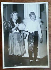 Vintage B/W Photograph (60s?) Young Boy and Girl Dressed as Gypsies