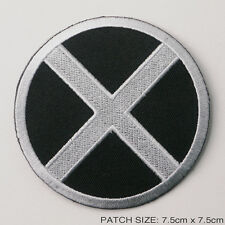 THE X-MEN - Movie Style Silver/Black Quality Iron-On Embroidered Patch FULL SIZE