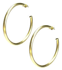 "Sheila Fajl 2.25"" Everybody's Favorite Tubular Hoop Earrings in Gold Plated"