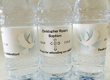 20 Personalized BAPTISM/CHRISTENING Waterproof Water Bottle Labels- party favors
