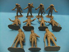 Grey Plastic Astronaut Figure Lot of 11 Vintage 60s Figures Made in China