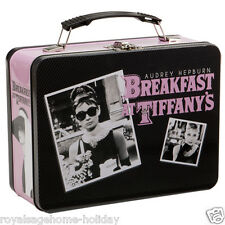 92170 Audrey Heburn Large Tin Tote Lunch box Movie Star Breakfast at Tiffanys
