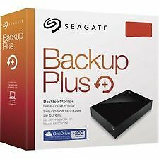 "4TB Seagate Backup Plus Usb/pow adapt. External Hard Disk Drive 3.5"" STDT4000300"