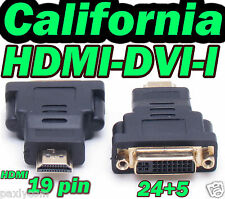 HDMI Male 19 Pin to DVI-I Female 24+5 Adapter Converter HDMI to DVI I M to F