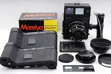 Mamiya Universal Press w/ 6x7 & 6x9 Roll Film Holders, Sekor 127mm f4.7, Hood