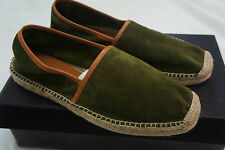 RALPH LAUREN COLLECTION BOWMAN SUEDE AND LEATHER ESPADRILLES SZ 6 UK rp £170